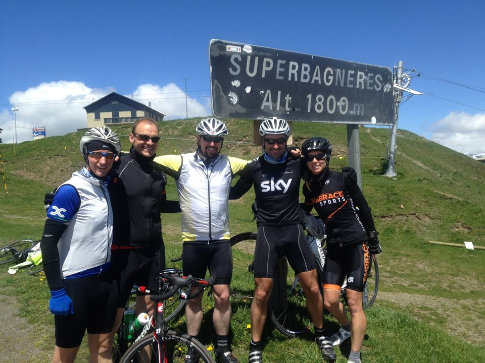 Richard Munday cycling up Super Bagners with Embrace Sports Ironman training camp