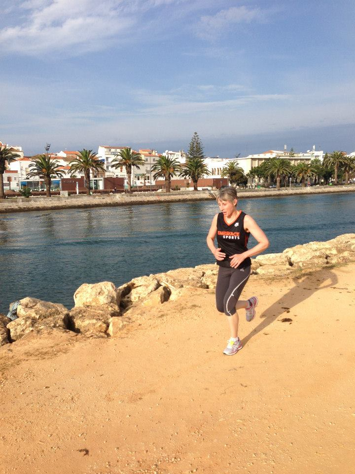 Running in Lagos, Portugal with Embrace Sports