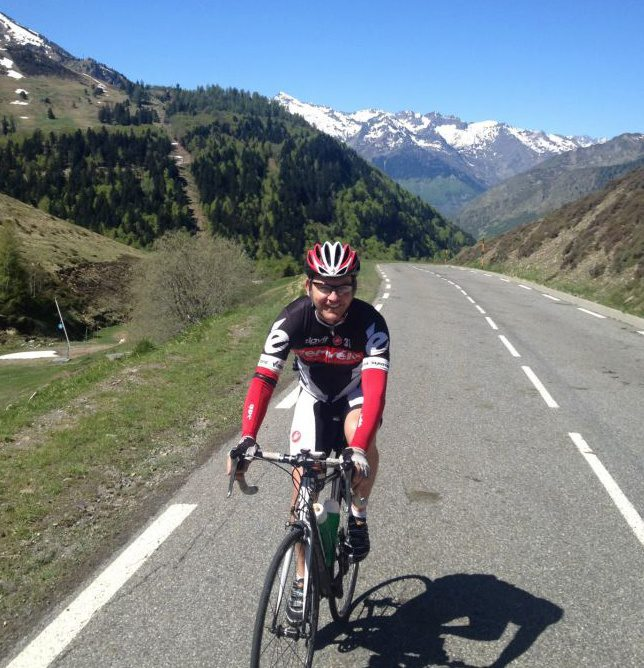 Cycling up Col du Tourmalet with Embrace Sport Cycling Holidays