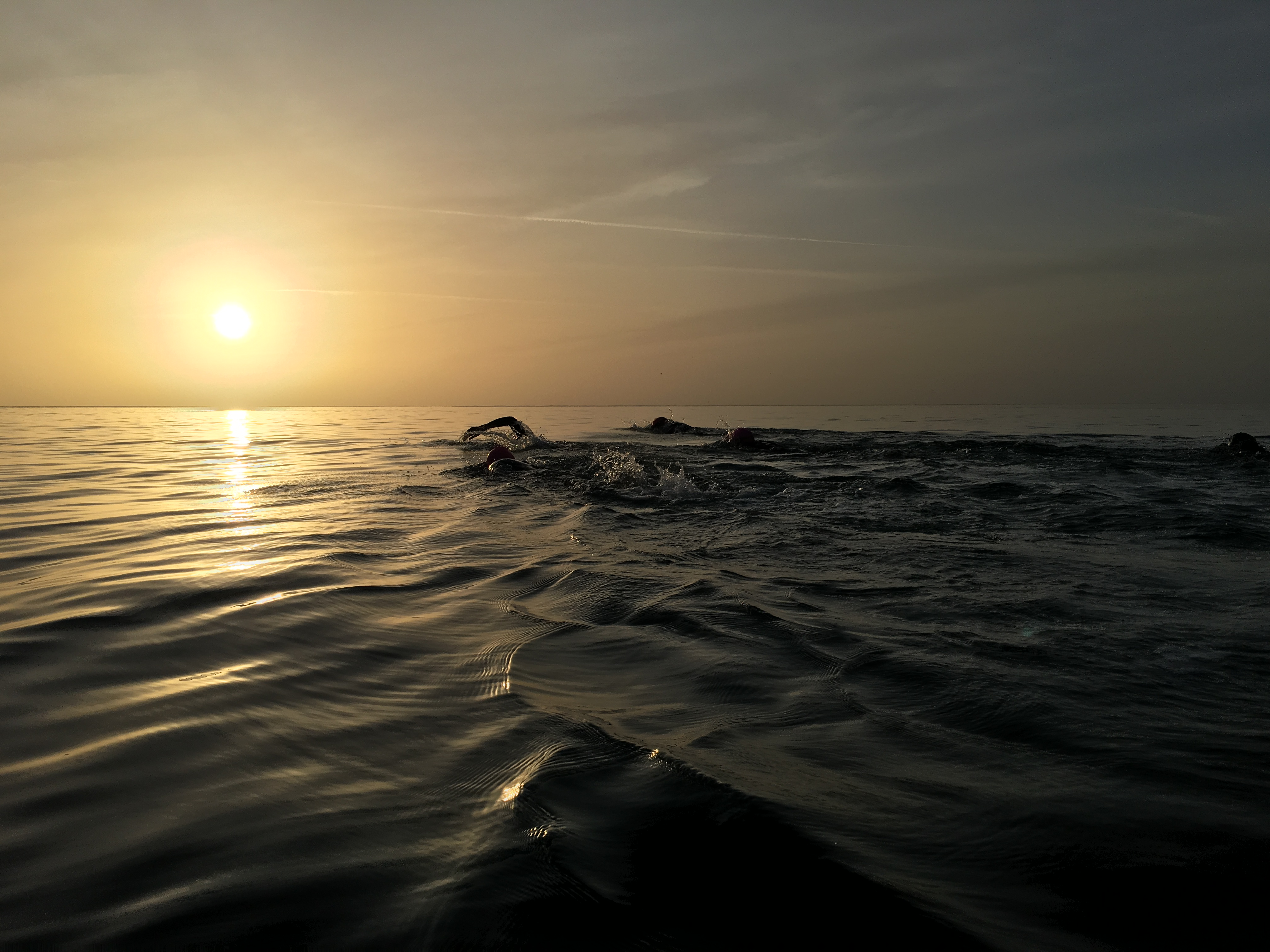 Morning ocean swim on an Embrace Sports novice triathlon holiday
