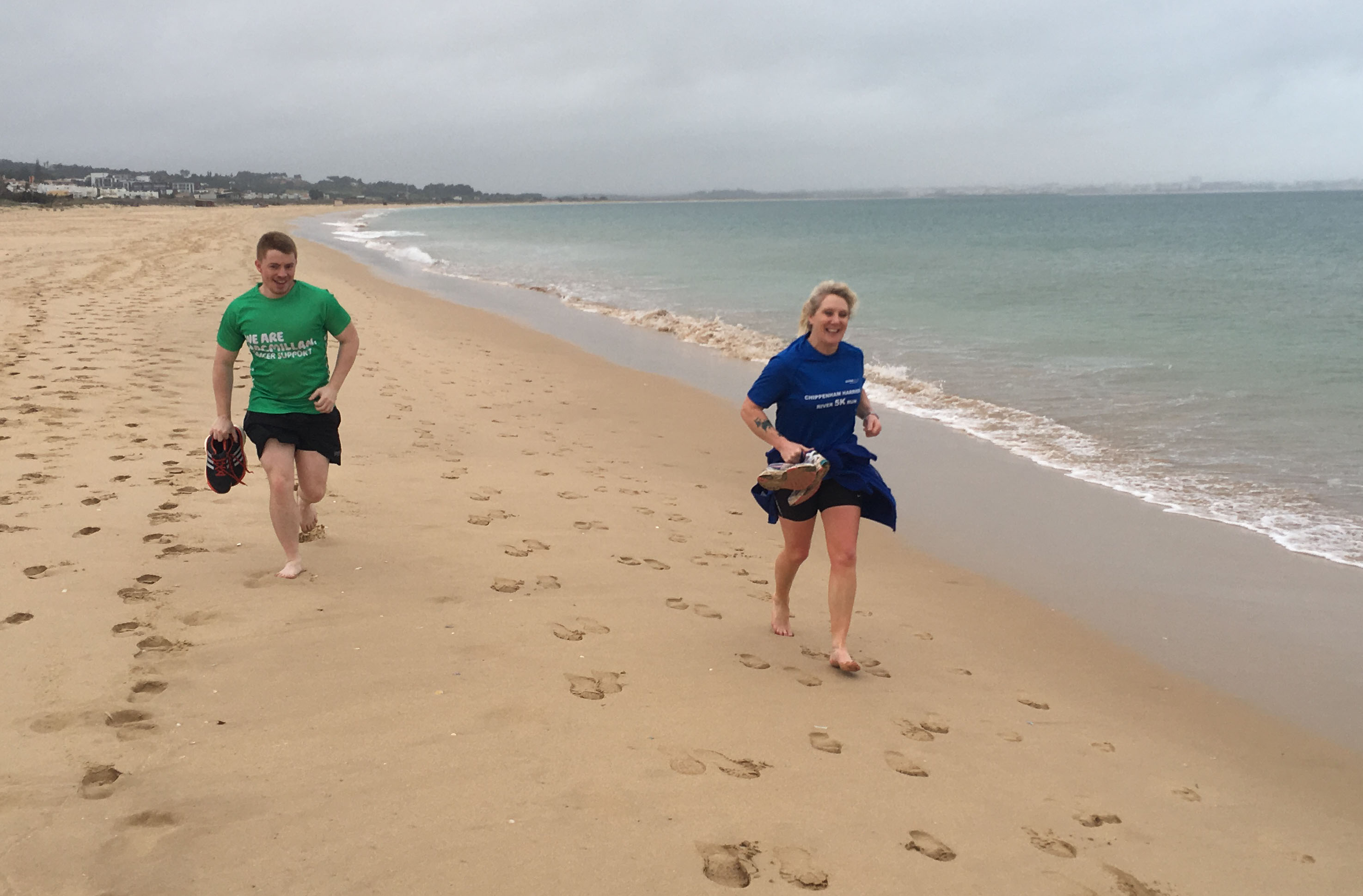 Beach recovery run with Embrace Sports
