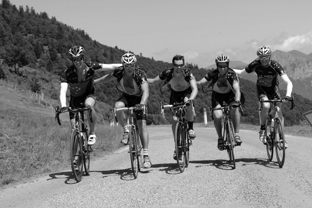 Smiddy riders submitting Col d'Aspin
