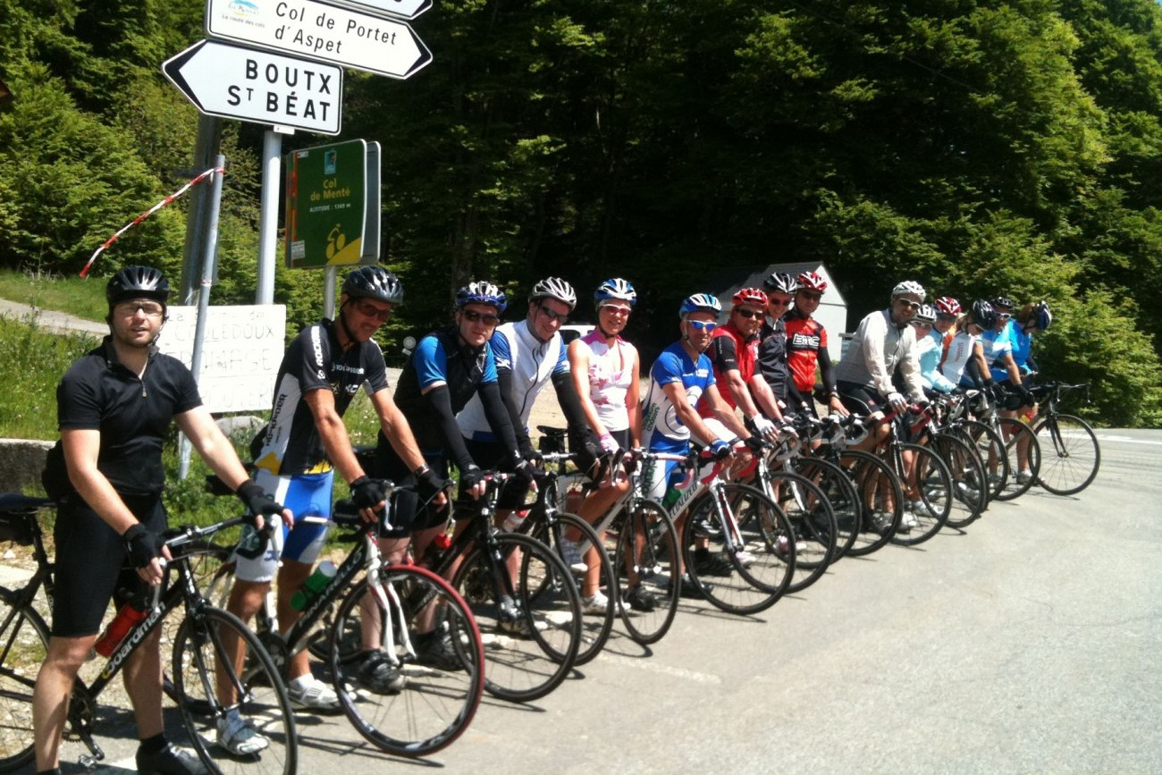 Clapham Chasers cycle holiday, French Alps